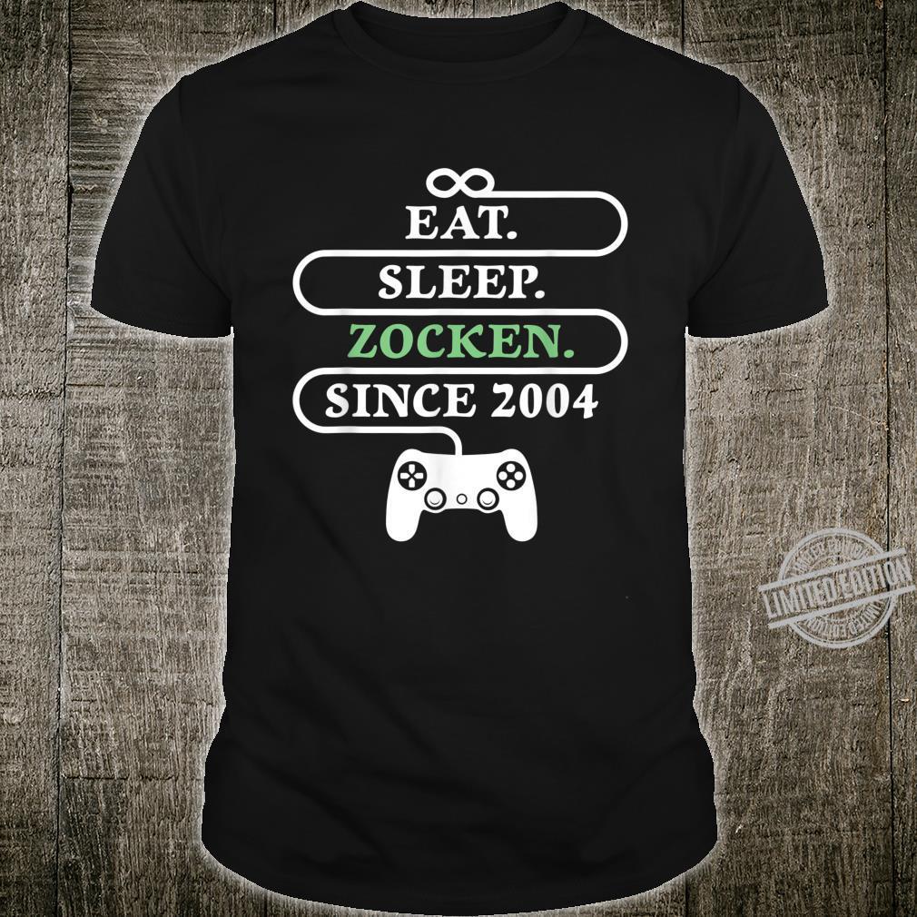 16th Birthday Gamer 16 Years Zocker Born 2004 Shirt