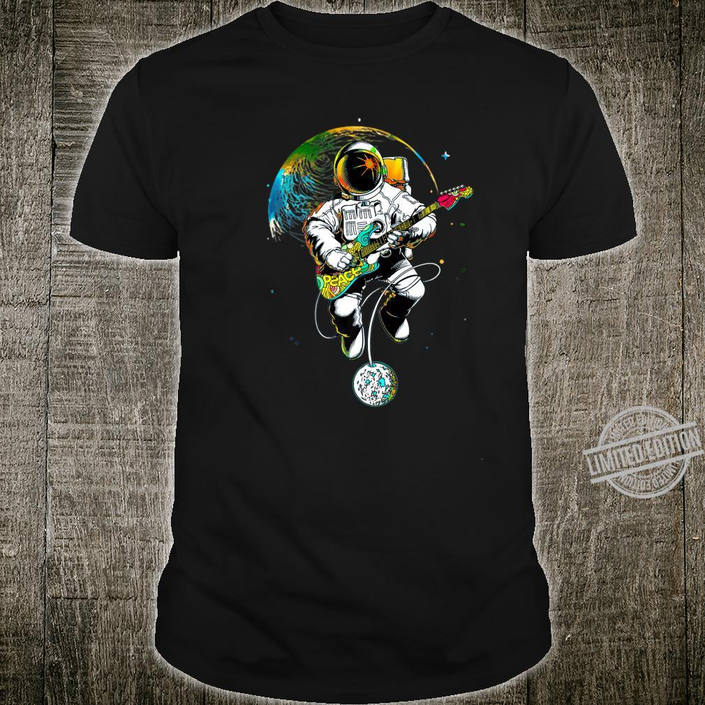 Astronaut Guitar In Space. Astronaut Guitar Love Rock N Roll Shirt