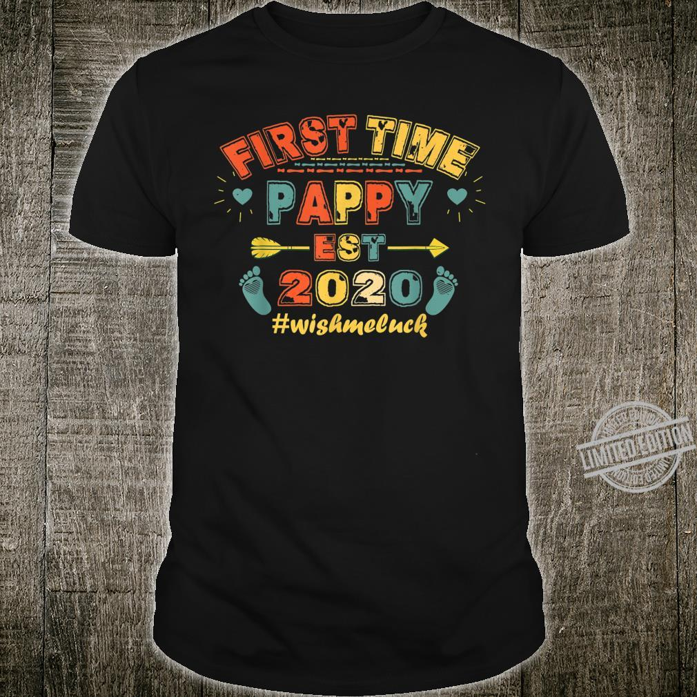 First Time Pappy Est 2020 Father's Day Present Shirt
