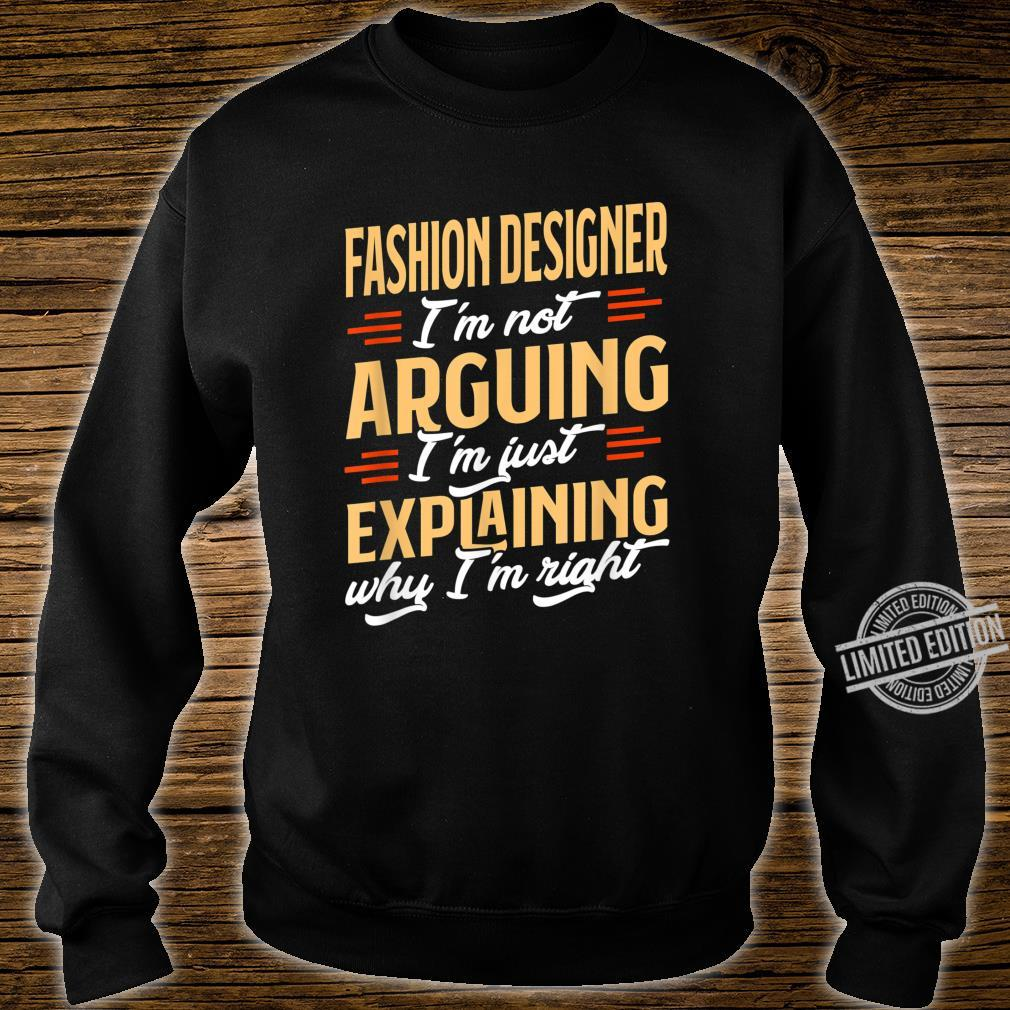 Funny Fashion Designer Job Design Proud Profession Shirt