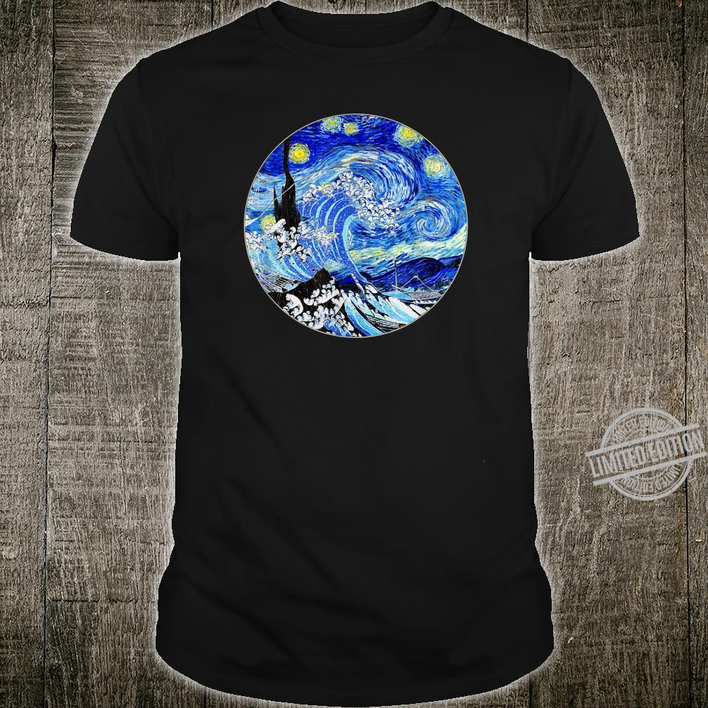 Great Starry Night Wave Famous Art Van Gogh Stylish Design Shirt