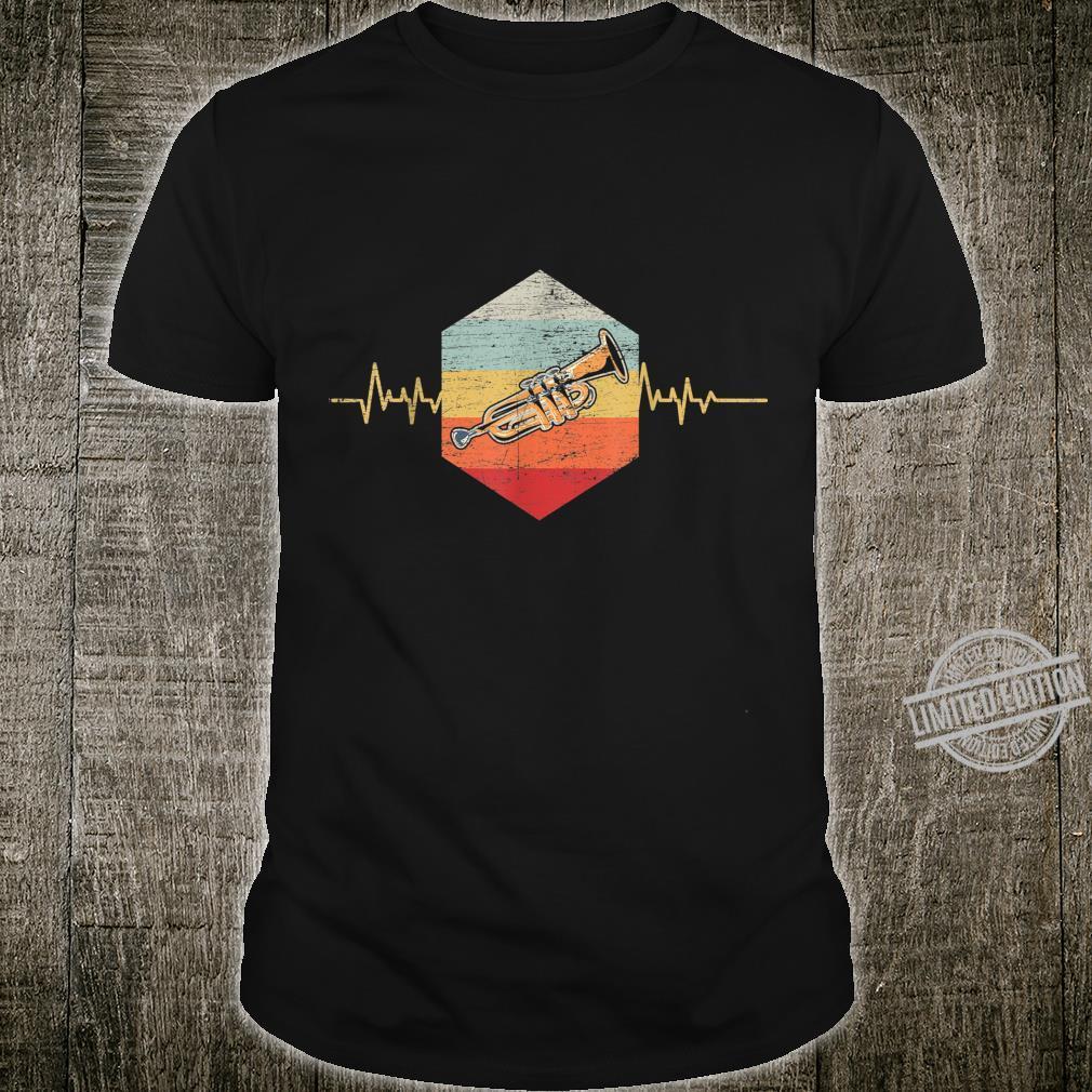Heartbeat Musical Instrument Jazz Trumpeter Retro Trumpet Shirt