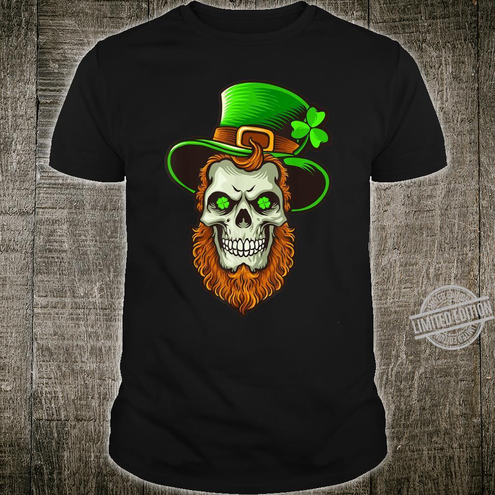 Irish Shamrock Lucky Leprechaun Skull St. Patrick's Day Shirt