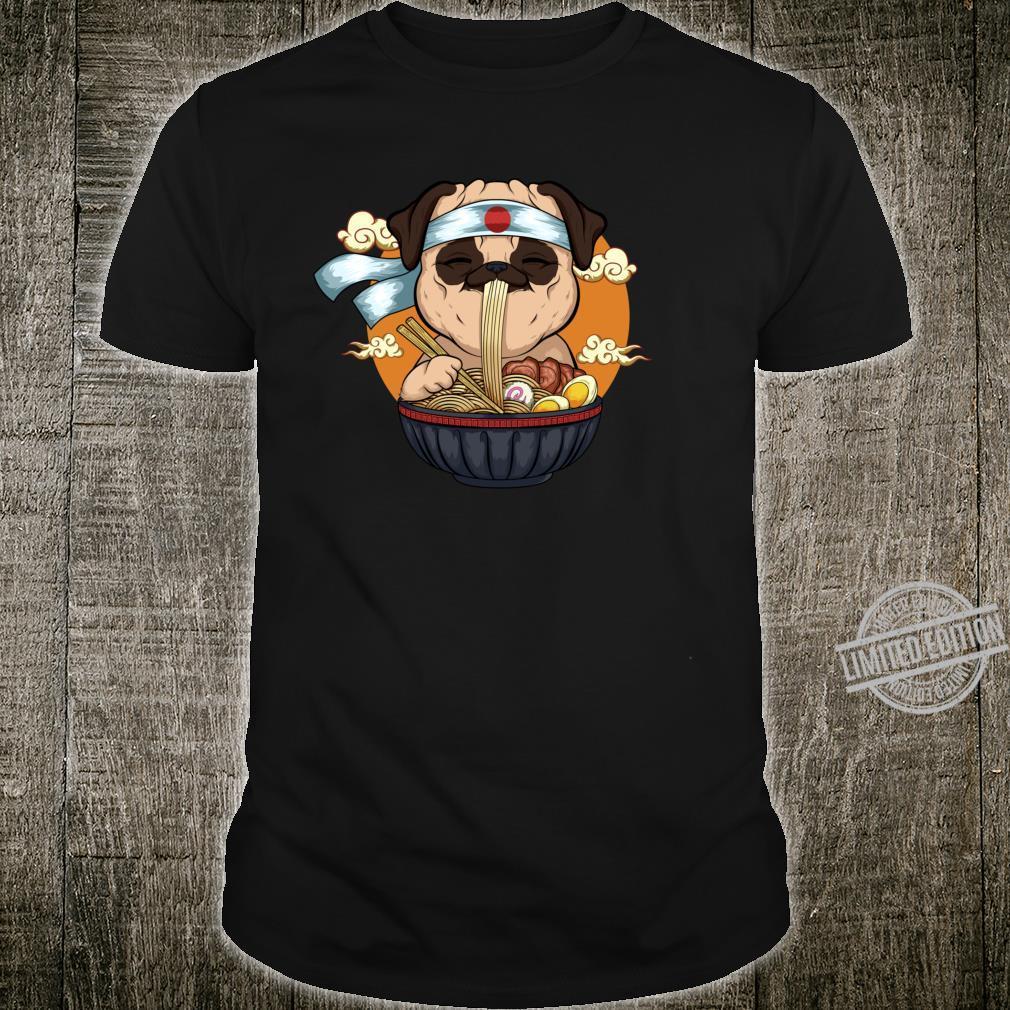 Japanese Ramen Pug Kawaii Anime Pug Dog Ramen Noodles Shirt