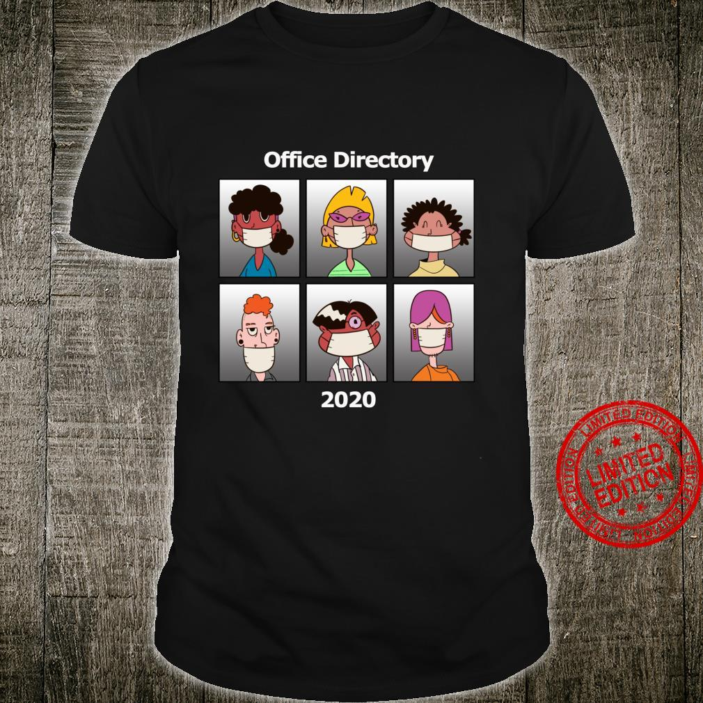 Lustige OfficeVerzeichnis Mitarbeiter tragen Masken Langarmshirt Shirt