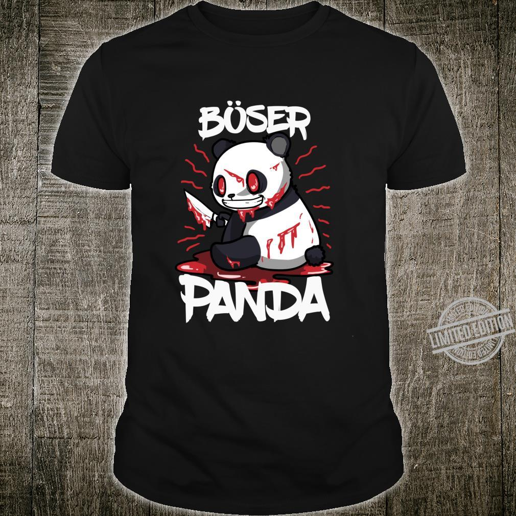 Lustiges Horror Pandabär Geschenk Böser Panda Langarmshirt Shirt