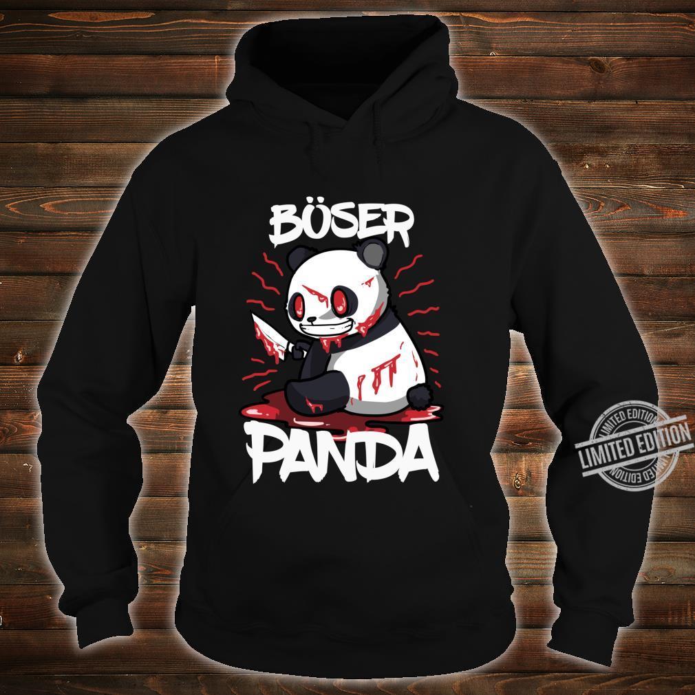 Lustiges Horror Pandabär Geschenk Böser Panda Langarmshirt Shirt hoodie