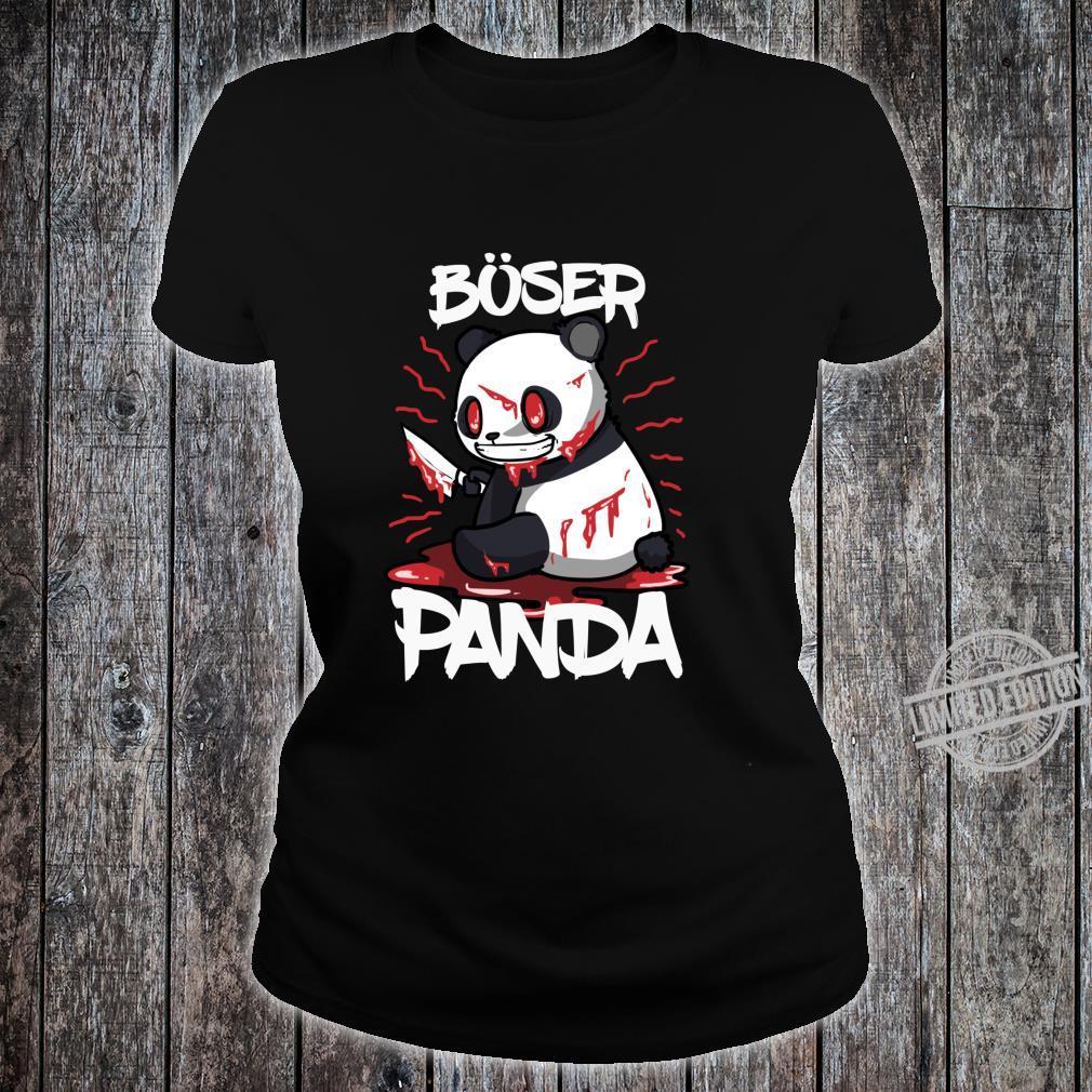Lustiges Horror Pandabär Geschenk Böser Panda Langarmshirt Shirt ladies tee