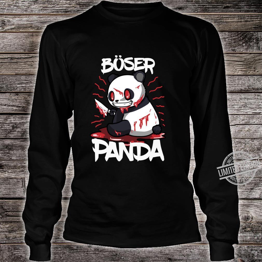 Lustiges Horror Pandabär Geschenk Böser Panda Langarmshirt Shirt long sleeved