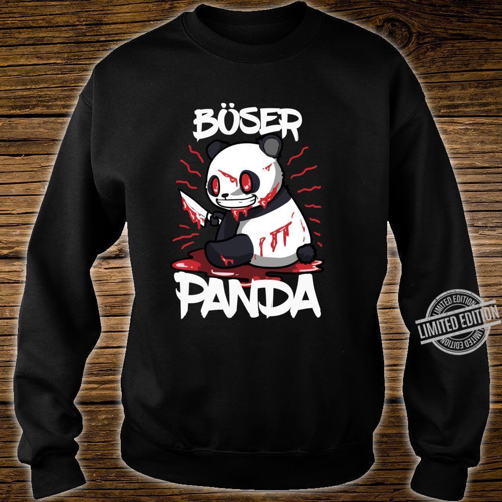 Lustiges Horror Pandabär Geschenk Böser Panda Langarmshirt Shirt sweater