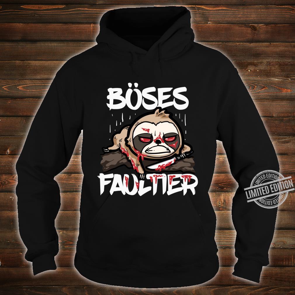 Lustiges Horror Sloth Geschenk Böses Faultier Shirt hoodie