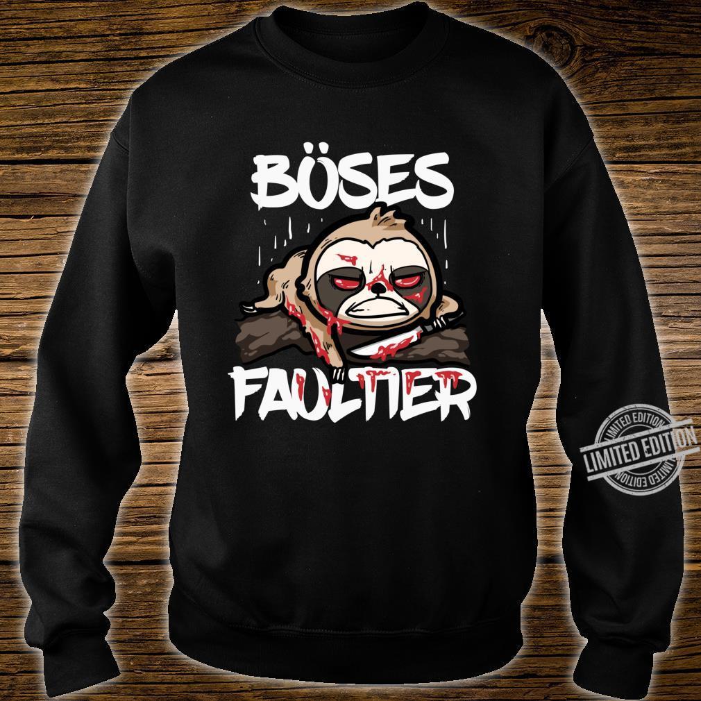 Lustiges Horror Sloth Geschenk Böses Faultier Shirt sweater