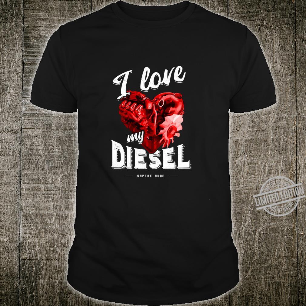 Lustiges I Love My Diesel Autofans Dieselfahrer Langarmshirt Shirt