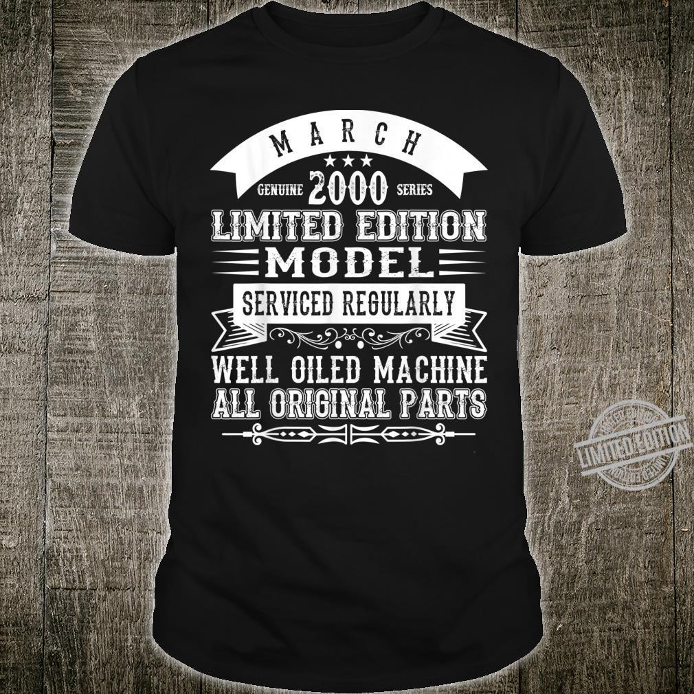March 2000 Birthday Limited Edition Shirt