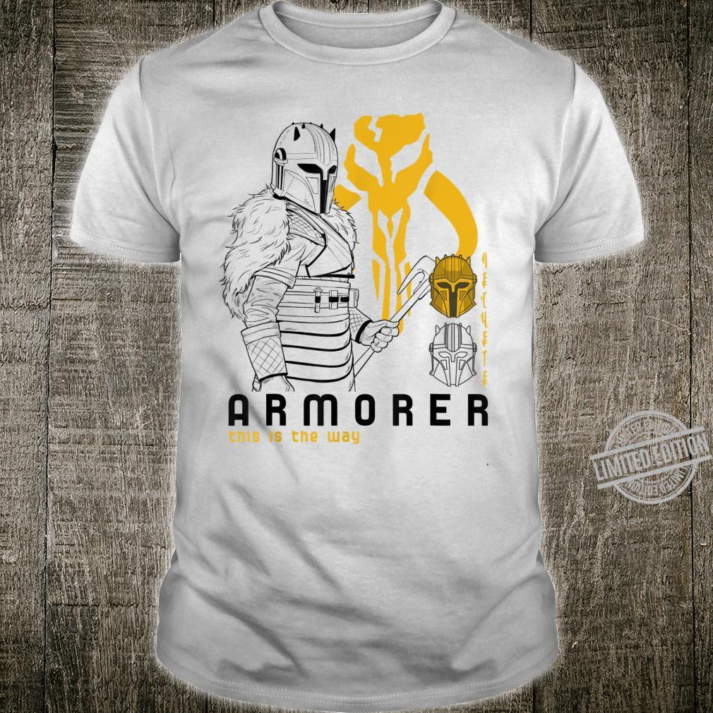 Star Wars The Mandalorian Armorer Line Art Shirt