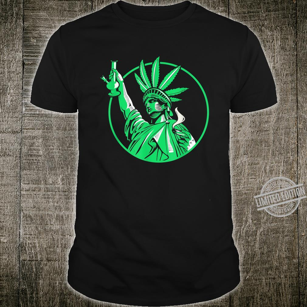 The Statue Of Liberty Holding Weed Bong Cannabis 420 Shirt