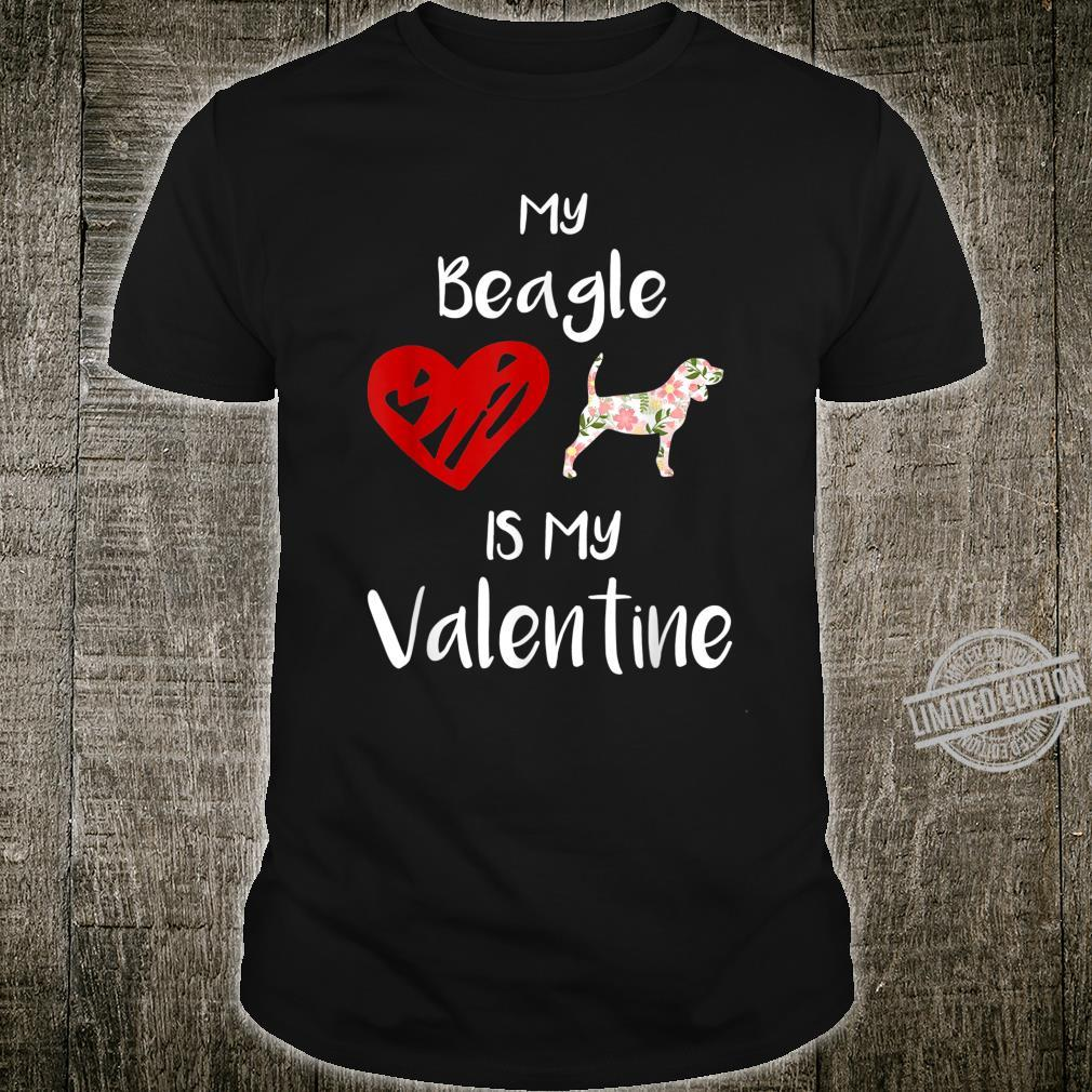 Womens My Beagle Is My Valentine For Dog Shirt