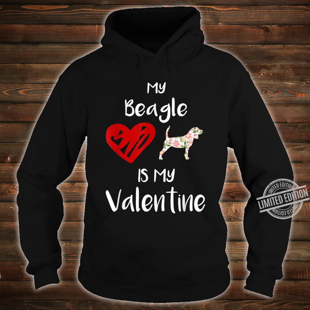 Womens My Beagle Is My Valentine For Dog Shirt hoodie
