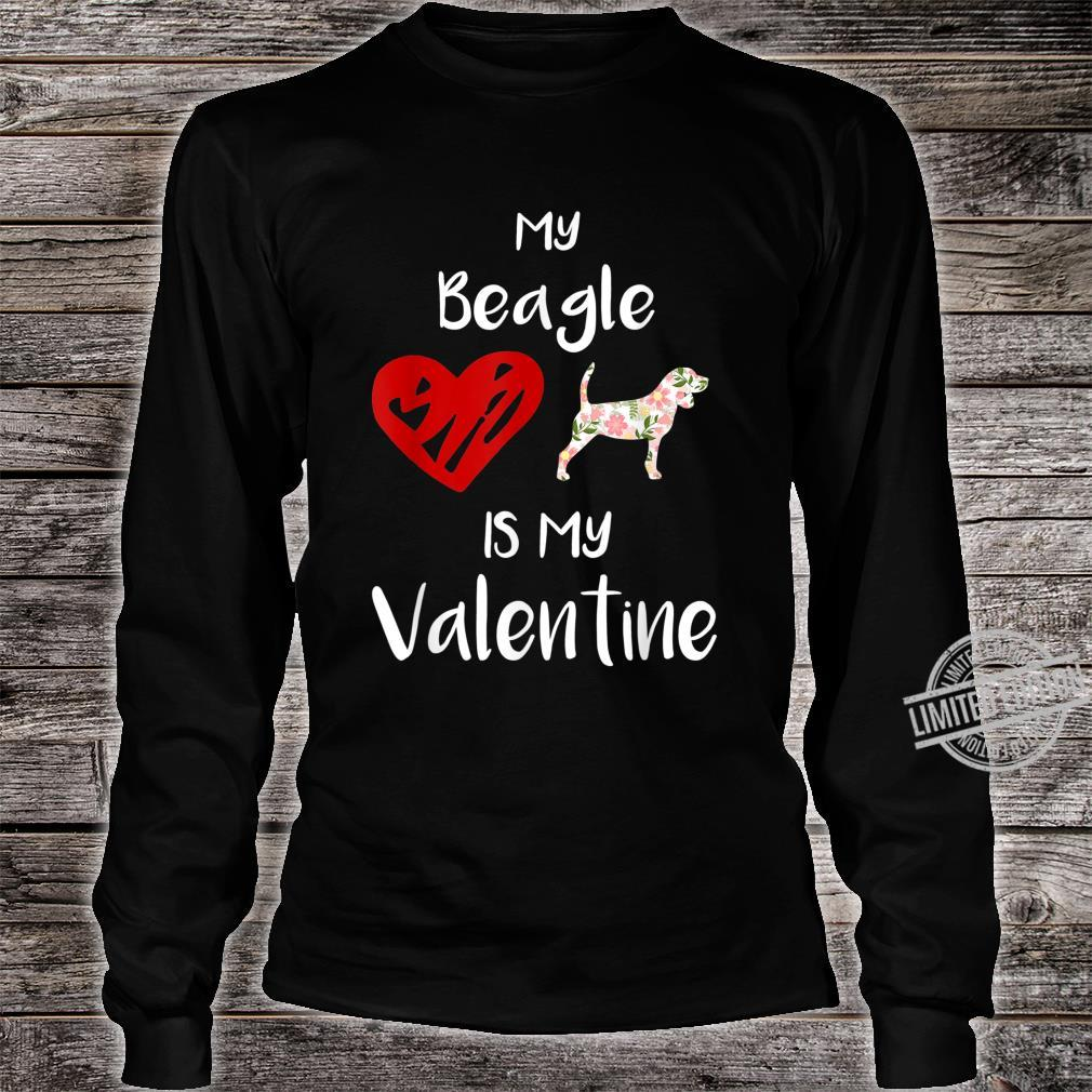 Womens My Beagle Is My Valentine For Dog Shirt long sleeved