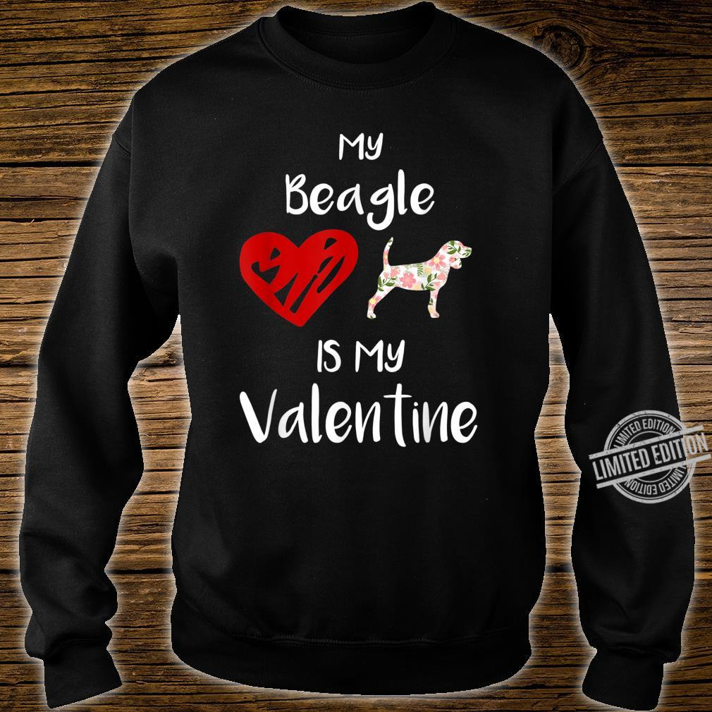 Womens My Beagle Is My Valentine For Dog Shirt sweater